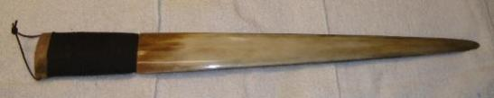 knife made from 28 inch long swordfish bill