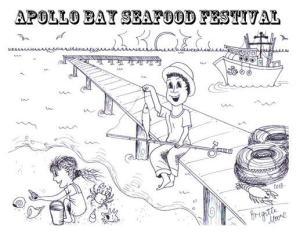 Apollo Bay Seafood Festival  Victoria, Australia coloring contest