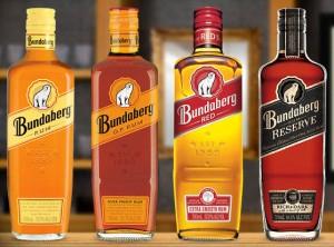 Bottles of Bundaberg, Australia, rum