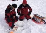Contestants in World Ice Fishing Championship