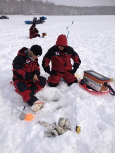 Contestants in World Ice Fishing Championship