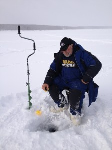 Angler at the World Ice Fishing Championship 2013
