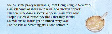Shark fin soup excerpt from The Adventures of Shark Stanley and Friends