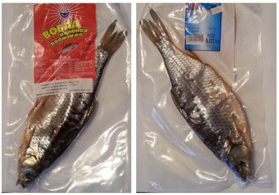 Dried salted Russian Volba fish snack