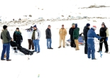 Participants in the 2013 Northwest Ice Fishing Festival on Molson and Sidley lakes, Washington