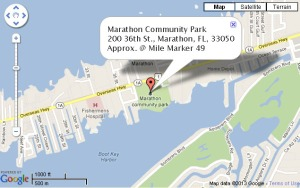 Map  showing location of Marathon Seafood Festival
